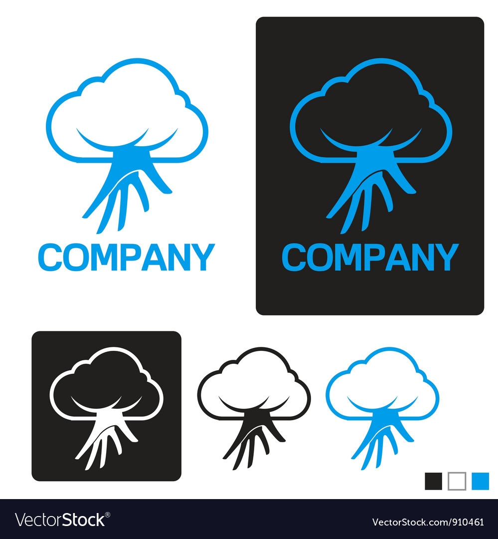 Cloud service logo template vector