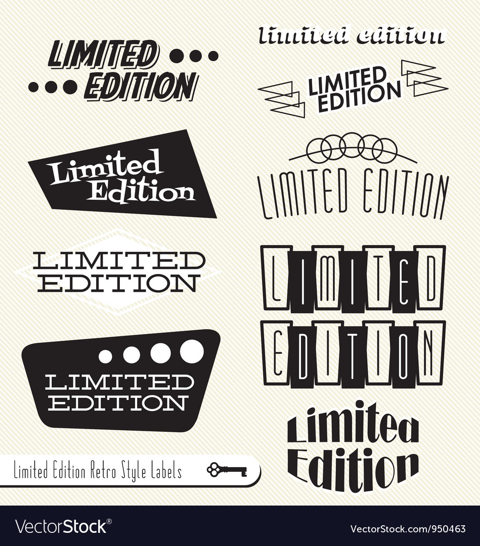 Limited edition labels vector