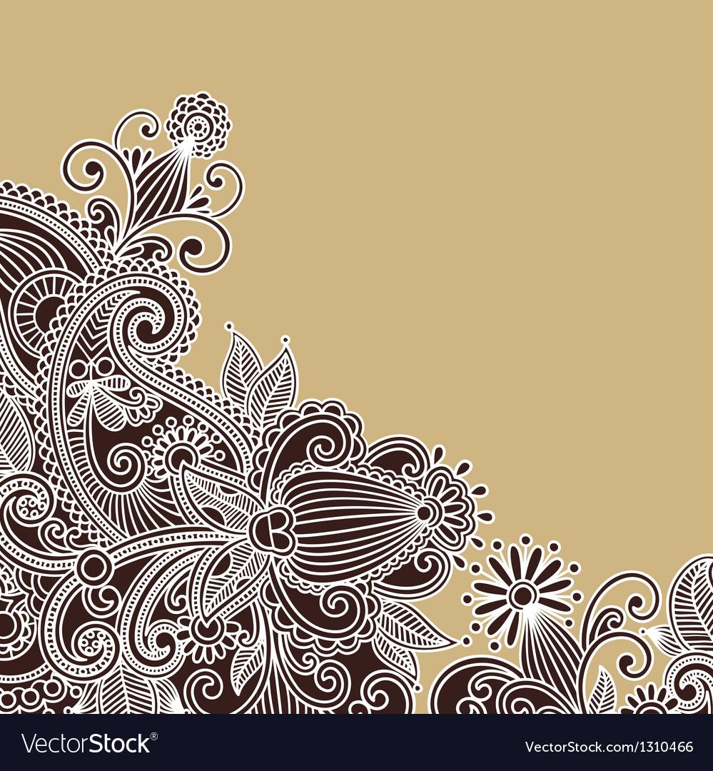 Ornate flower background vector