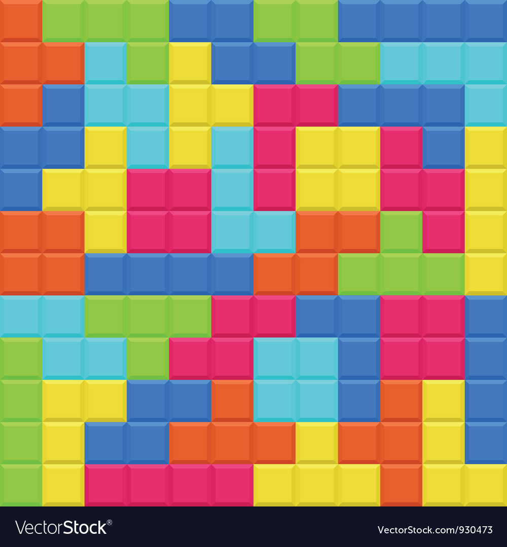 Multicolored blocks seamless background pattern vector