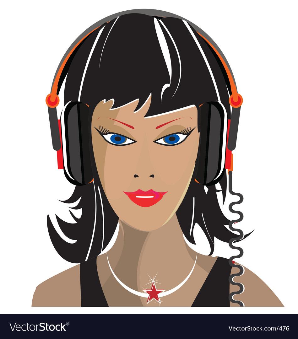 Free dj music vector