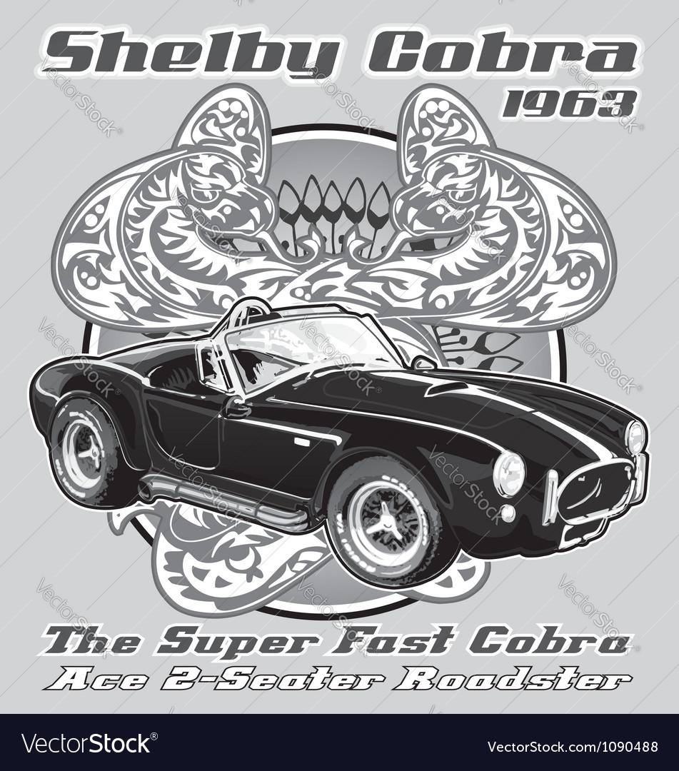 Shelby cobra 1963 vector
