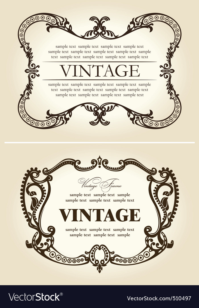 vintage beige abstract frames ornament vector