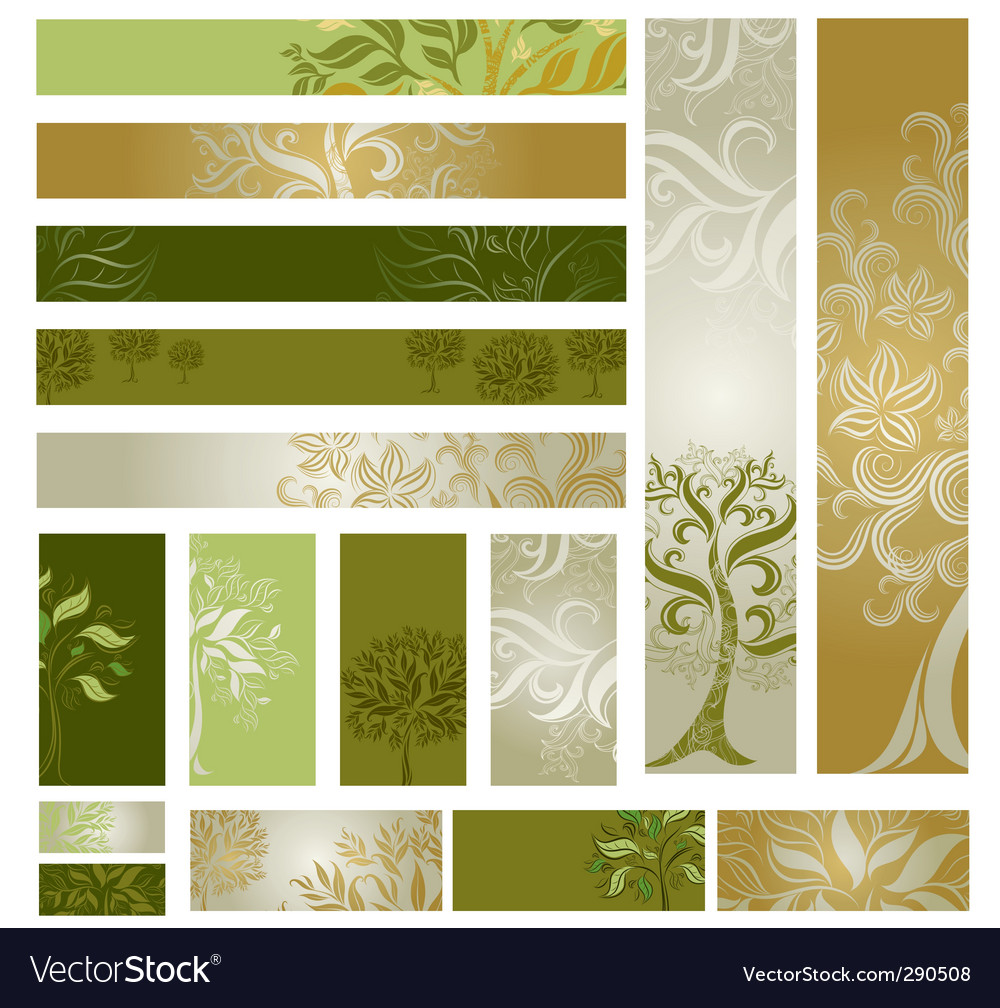 Web design banners vector