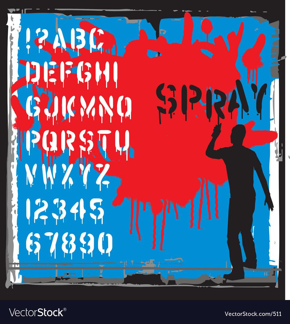 Free spray font vector