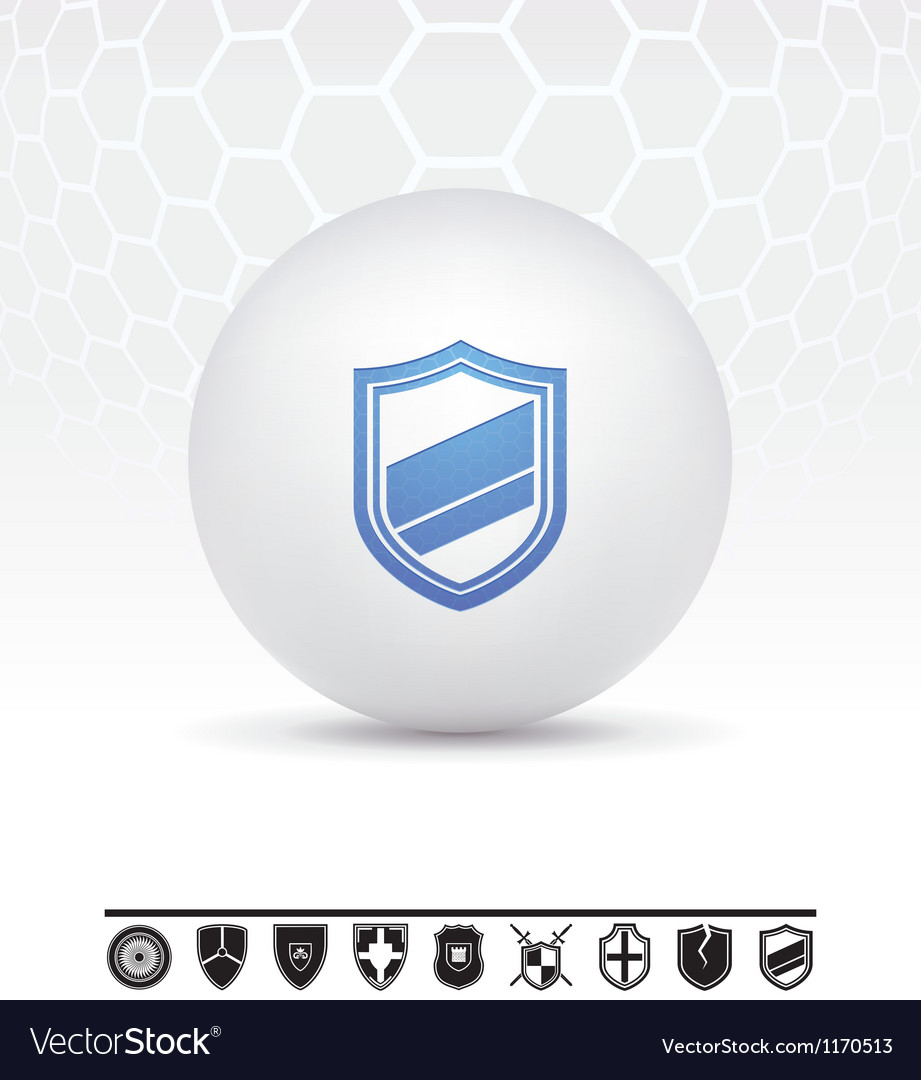 Shields icon vector