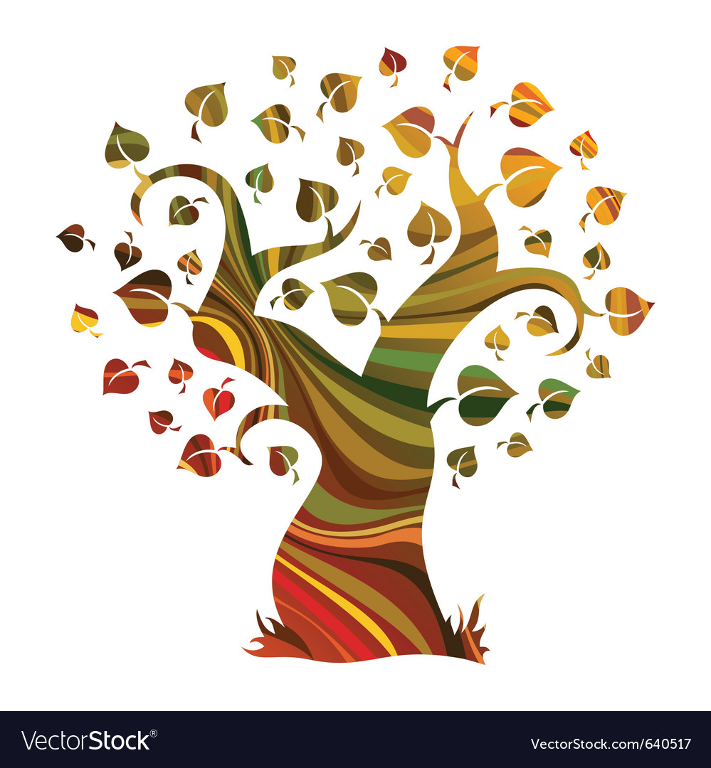 Multicolour abstract tree vector