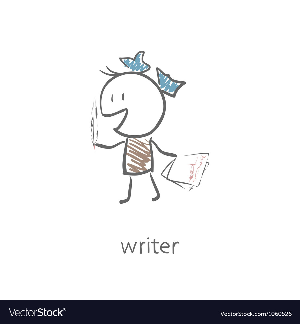 Woman writer vector