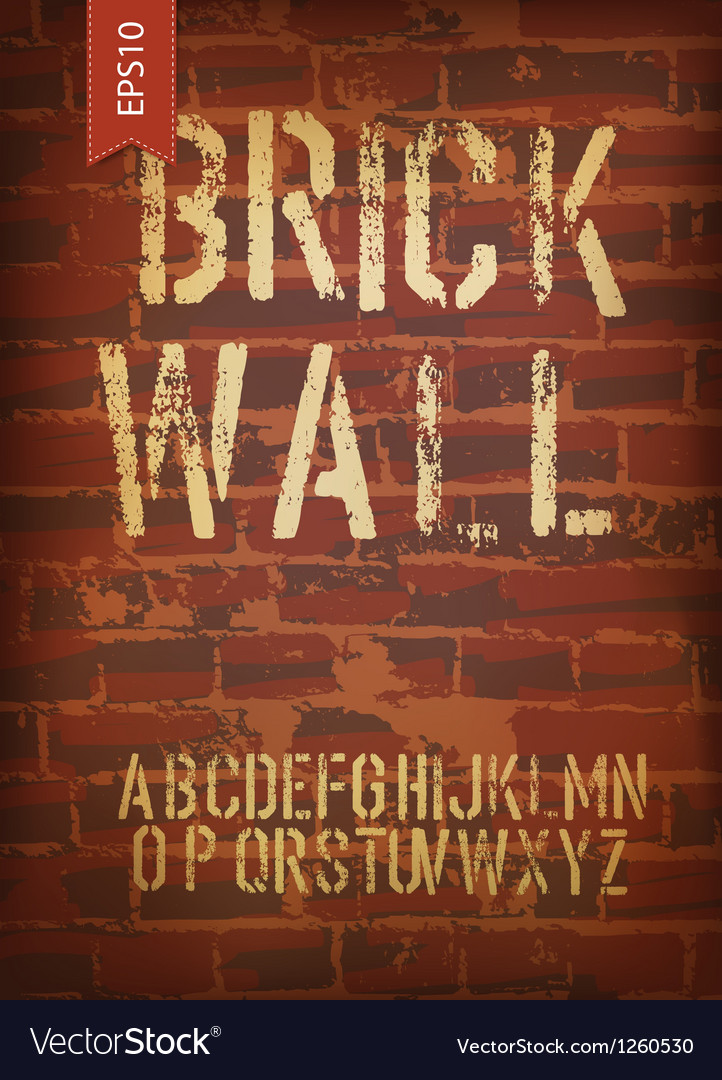 Brick wall template vector