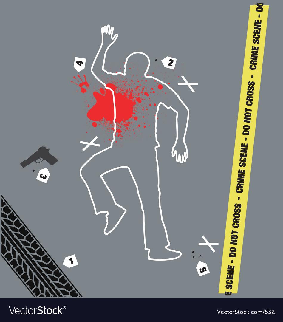 Free crime scene vector