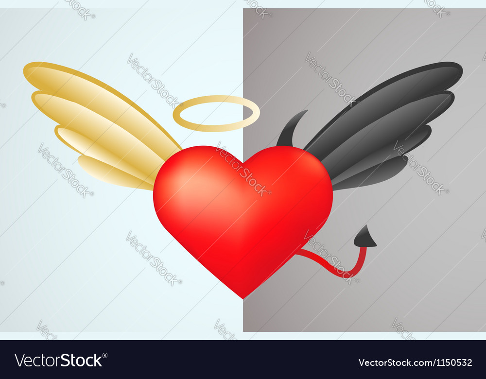 Two heart parts vector