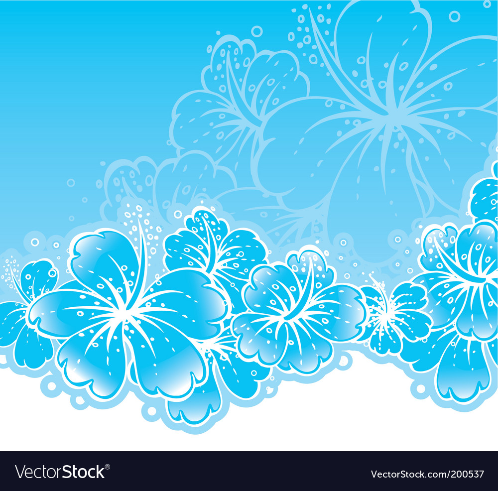 Back flowers vector