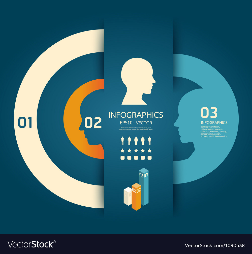 Infographics creative pencil template concept vector
