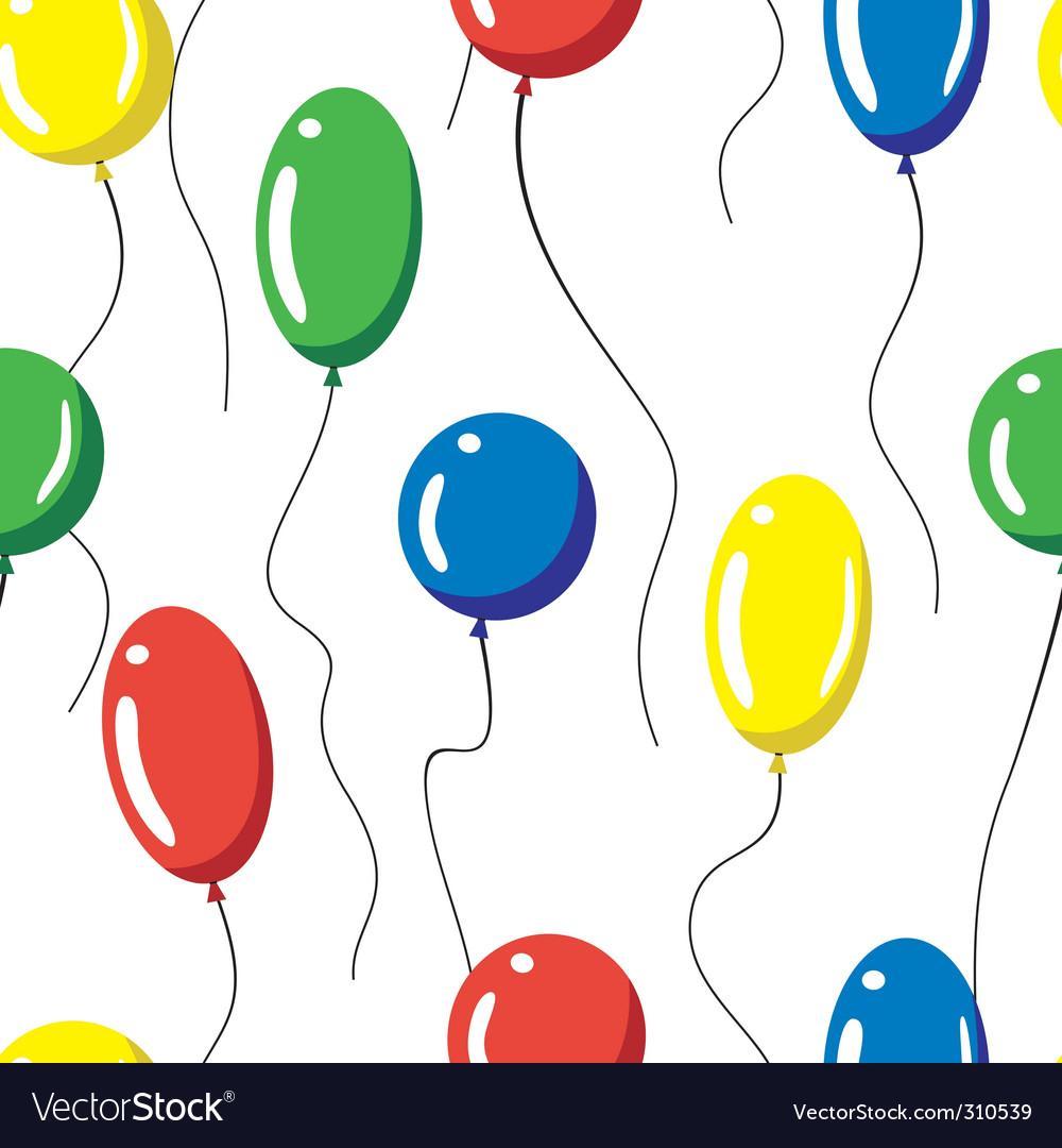 Seamless balloons vector