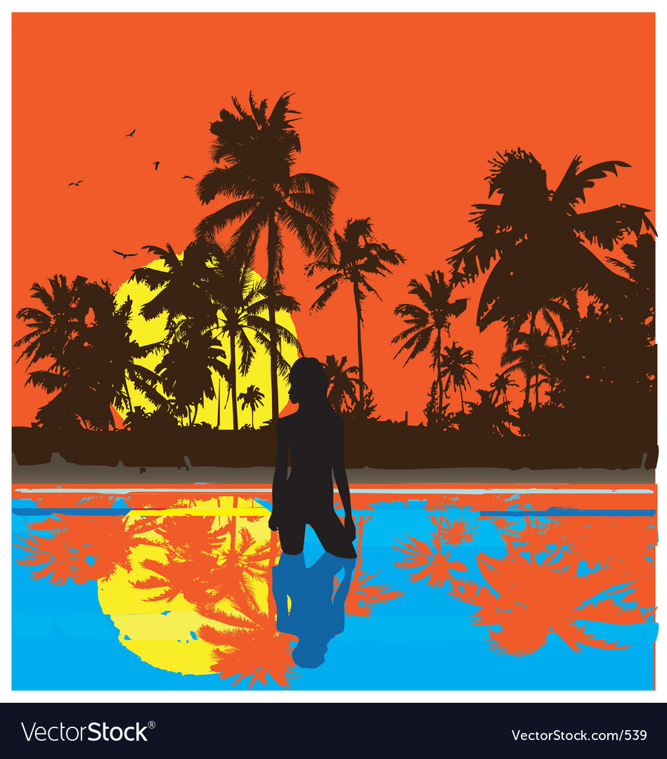 Free tropical nights vector