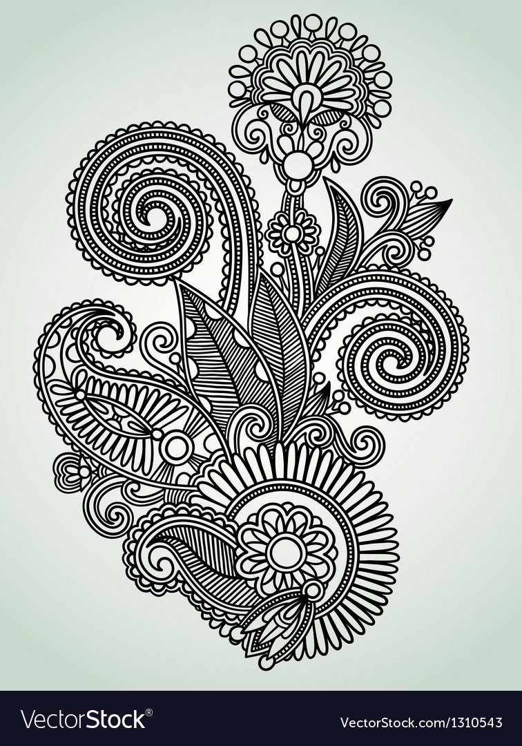 Design ornamental decoration vector
