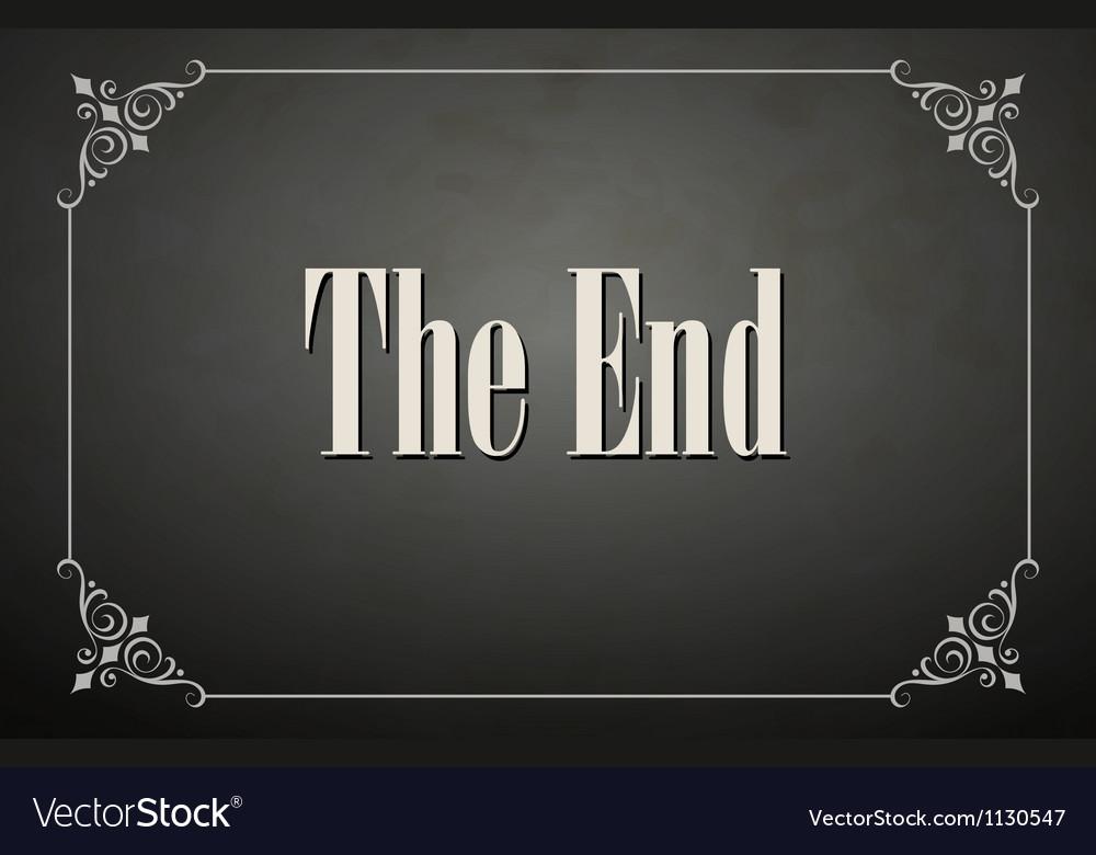 Movie ending vector