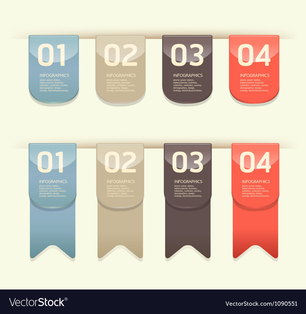Modern design button vector