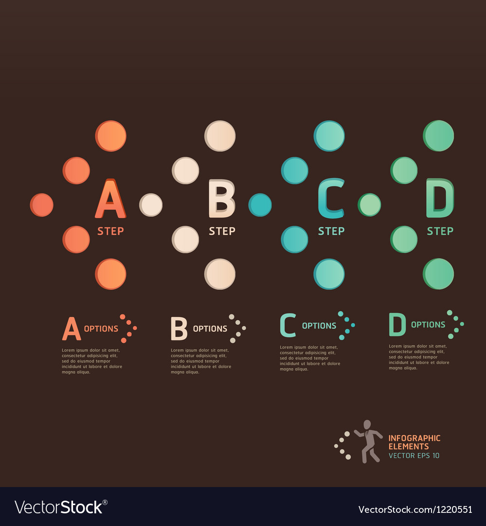 Modern dot arrow infographics vector