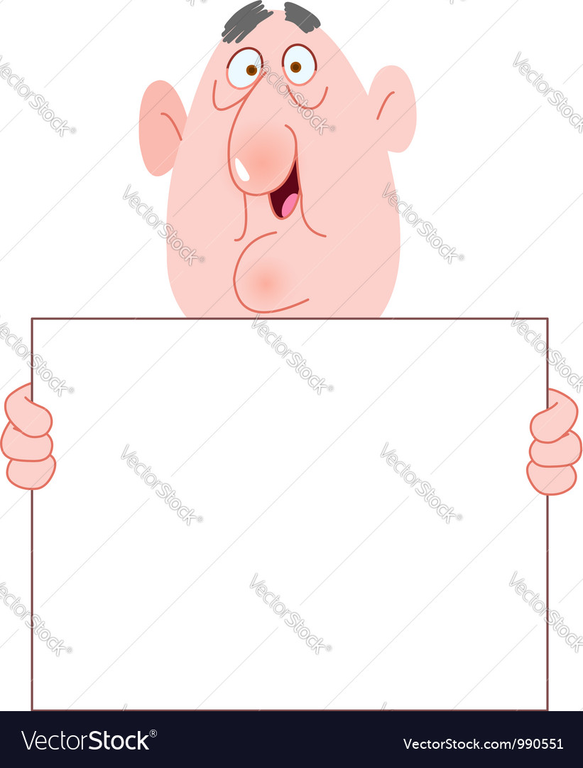 Old man with sign vector