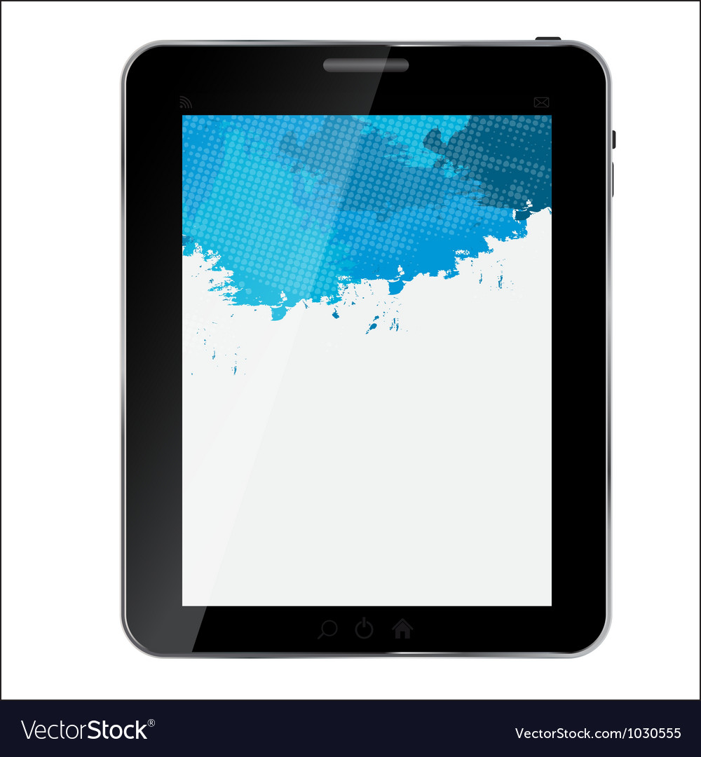 Abstract design tablet vector