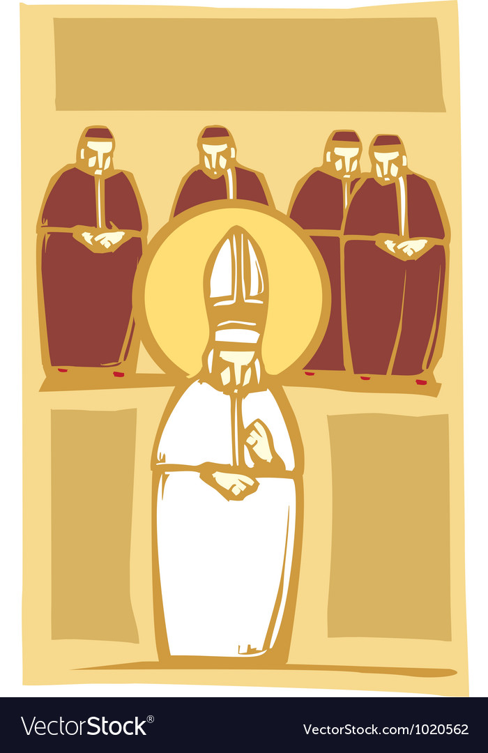 Pope and cardinals vector