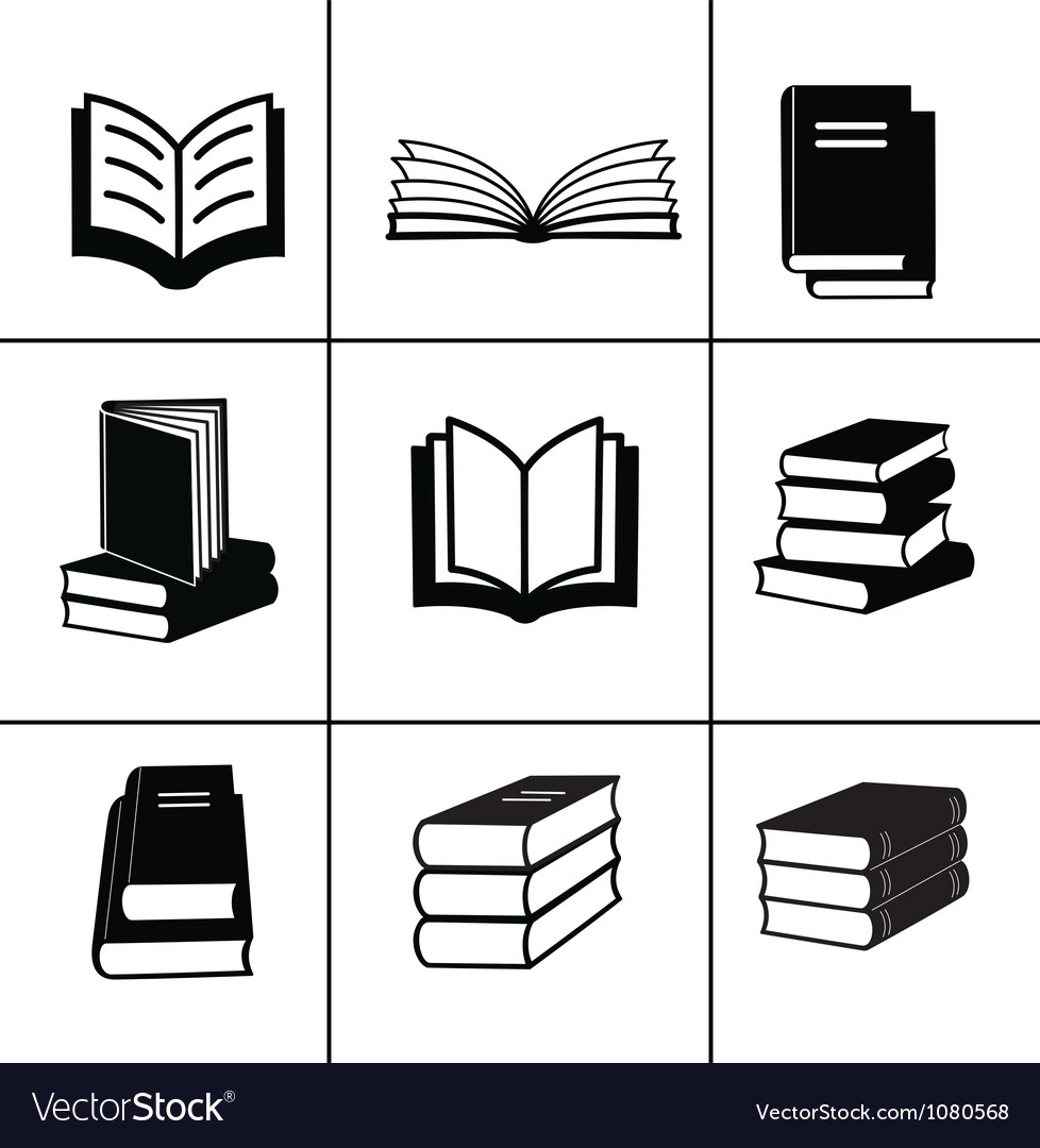 Book design elements vector