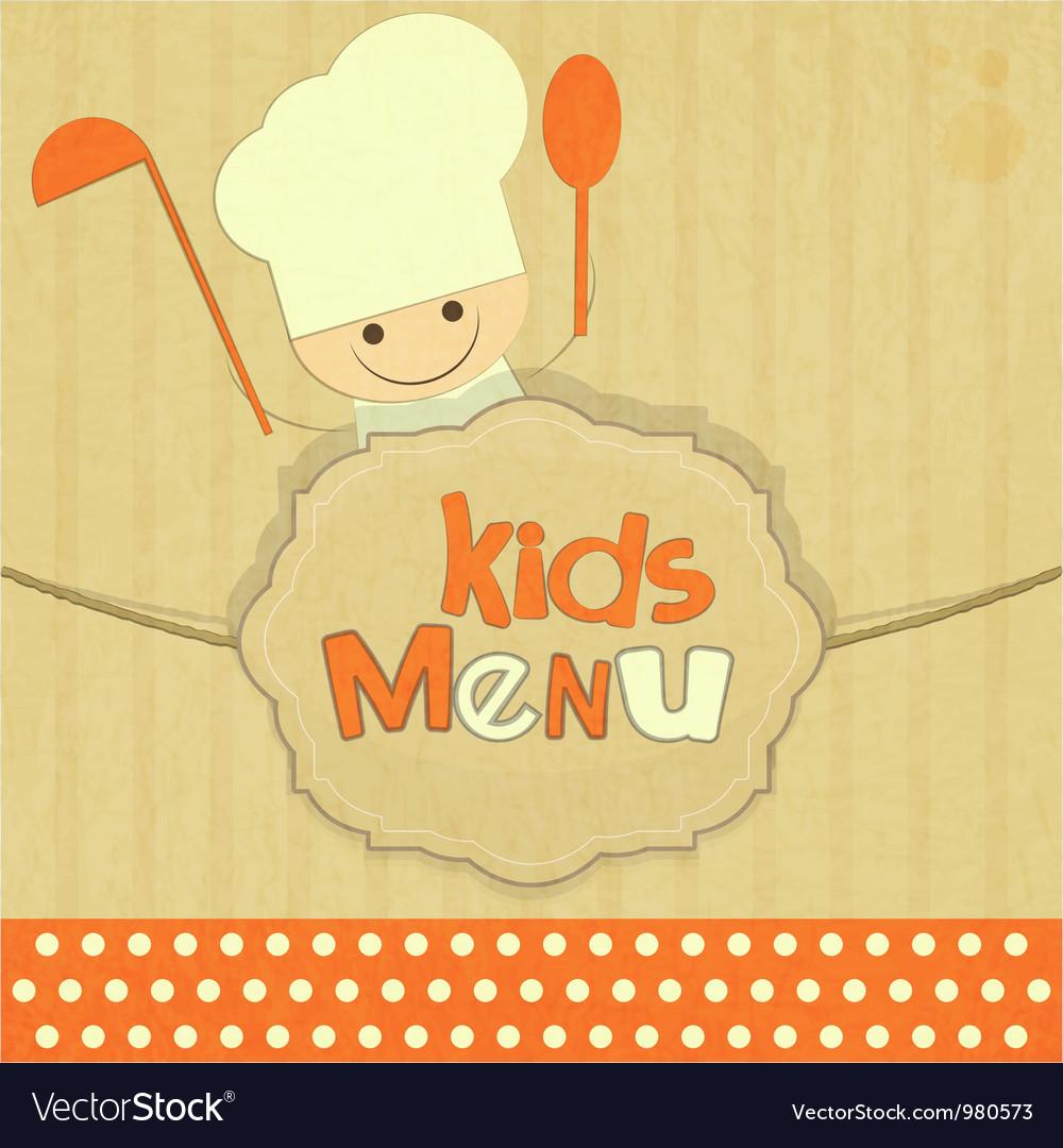 Design of kids menu vector