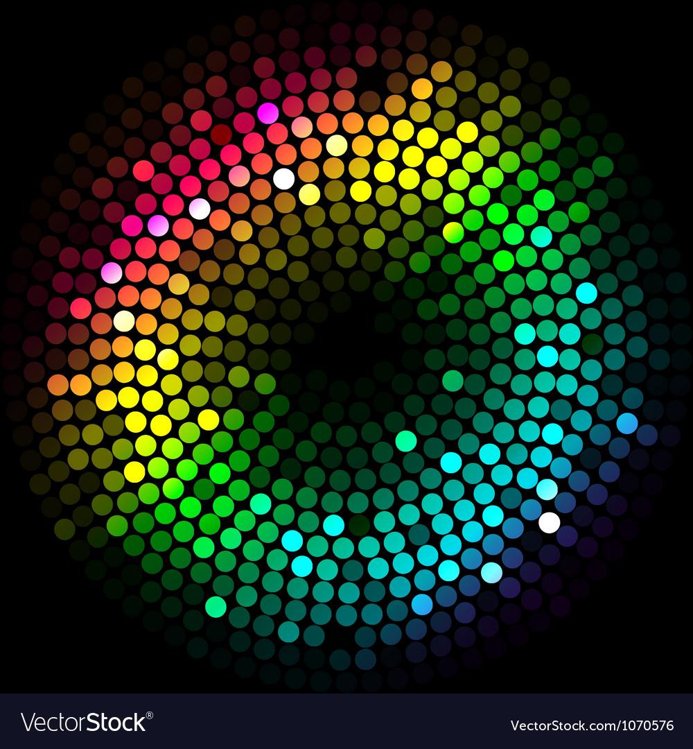 Abstract colorfu lights cyrcle vector