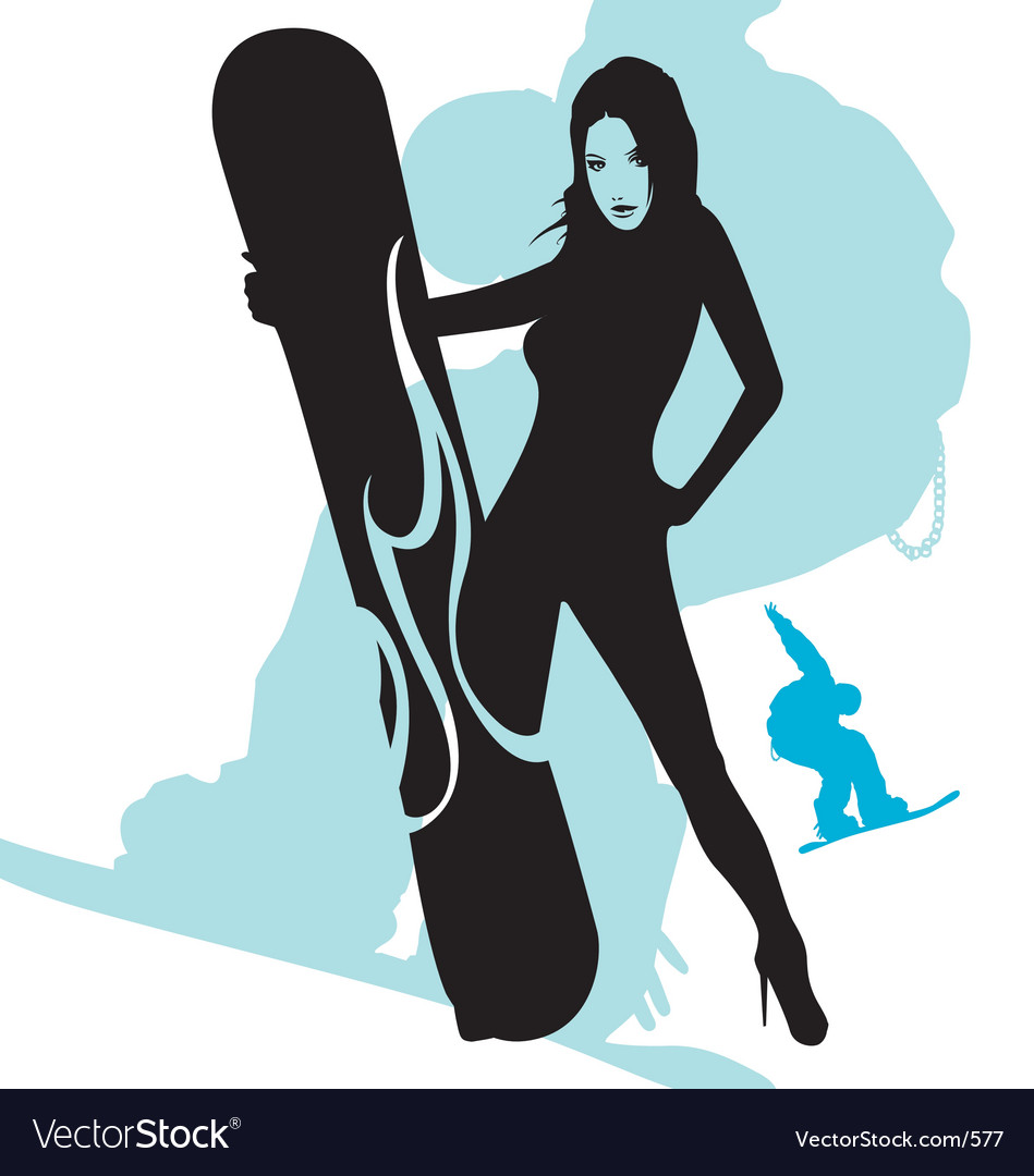 Free snowboarding is sexy vector