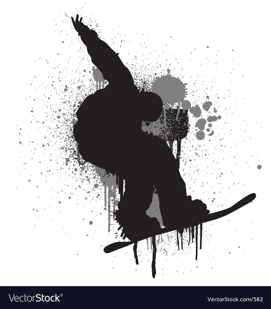 Free stencil snowboarder vector