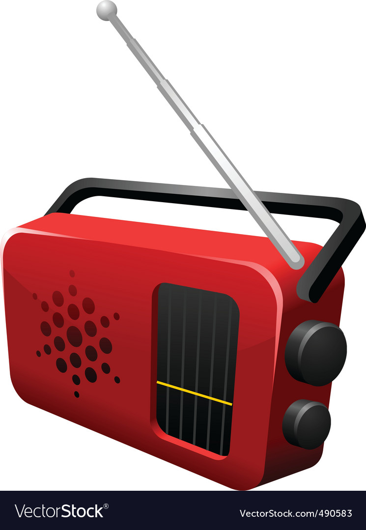 Music radio vector