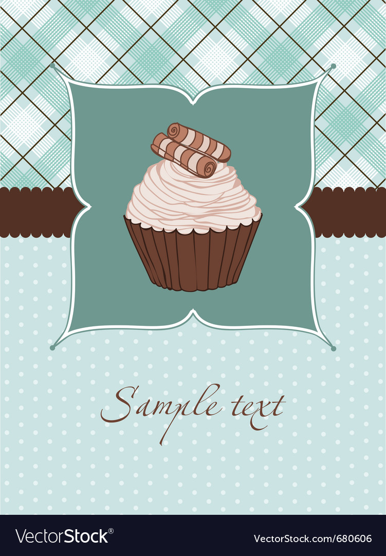 Beautiful cupcake background vector