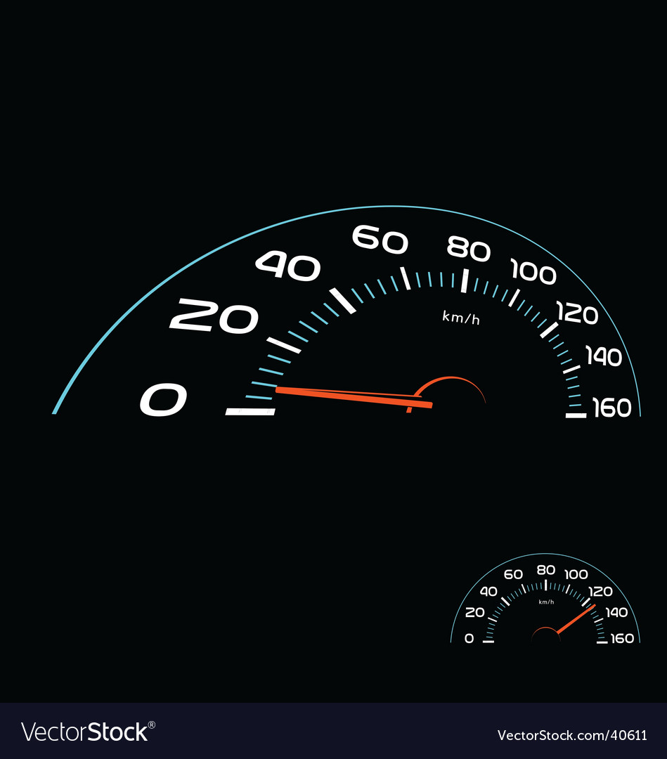 Car speedometer vector