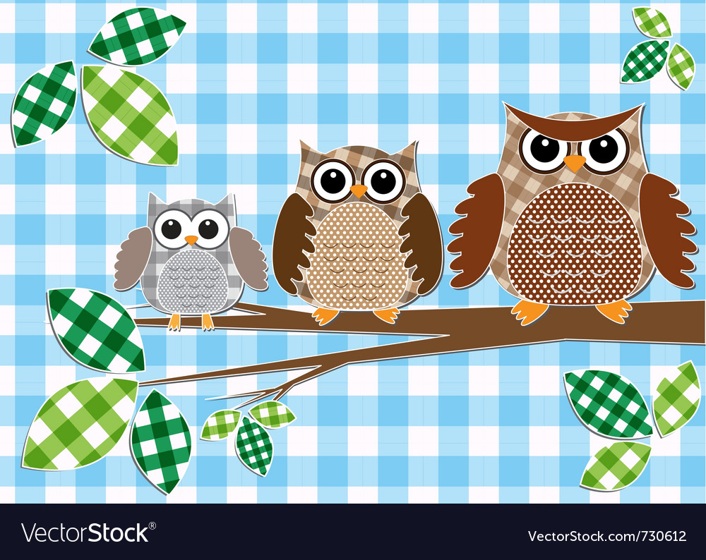 Family of owls vector