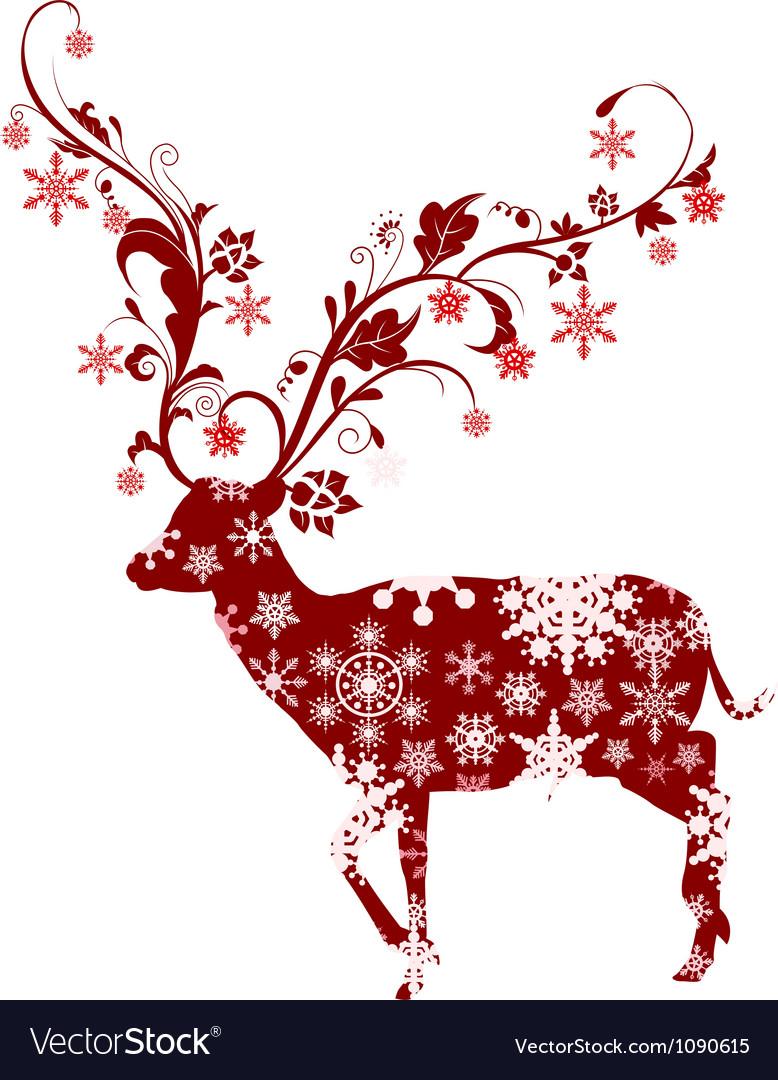 Christmas deer vector by ayoeb - Image #1090615 - VectorStock