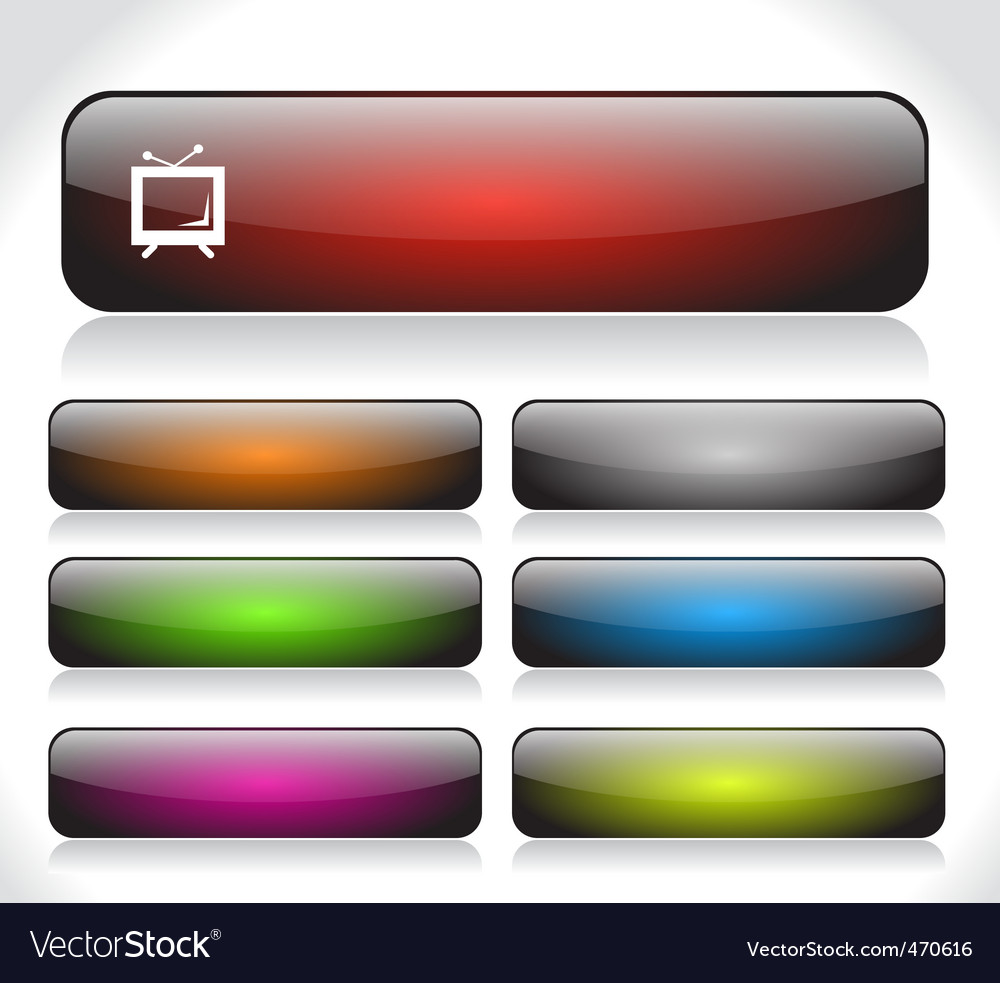 Webiste template icons vector