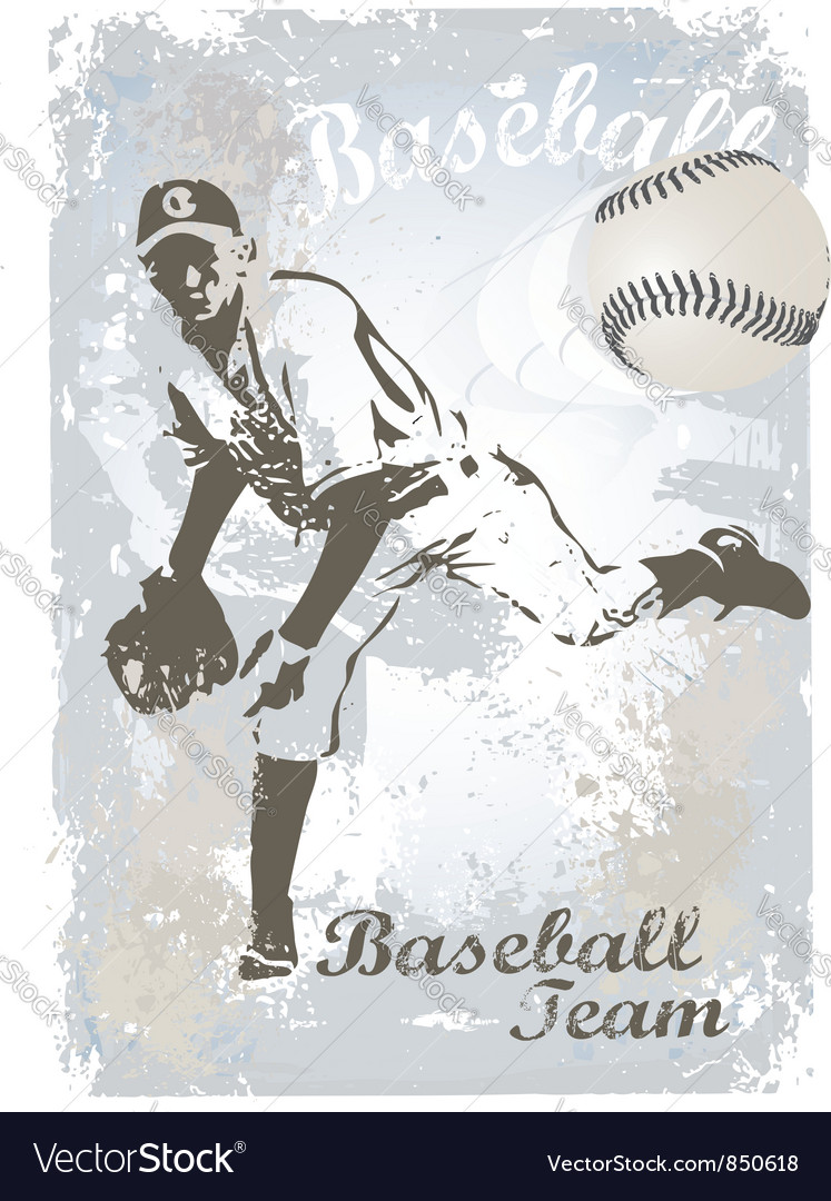Base ball grunge 3 vector