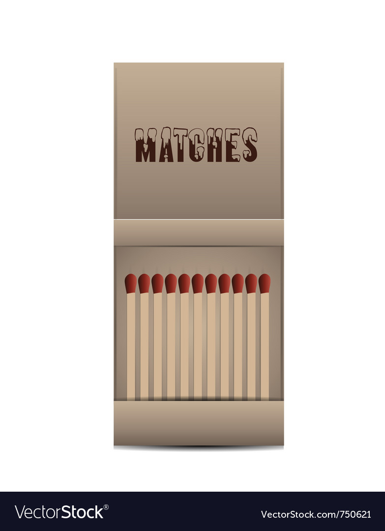 Matchbox isolated vector