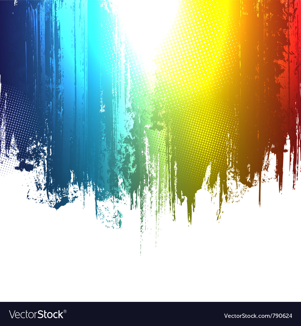 Gradient paint splashes background vector
