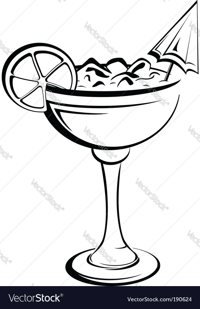 Party cocktail vector