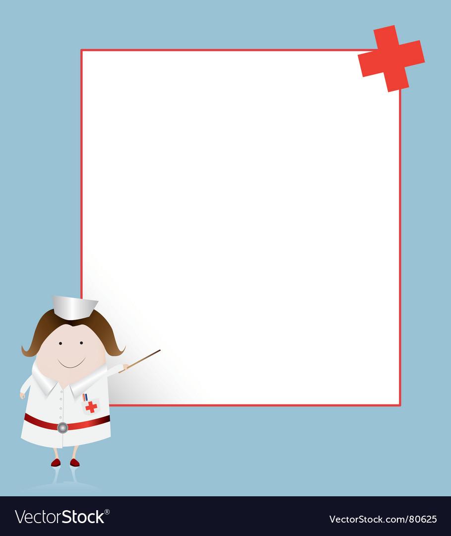 Nurse Borders And Frames Nurse and whiteboard vector