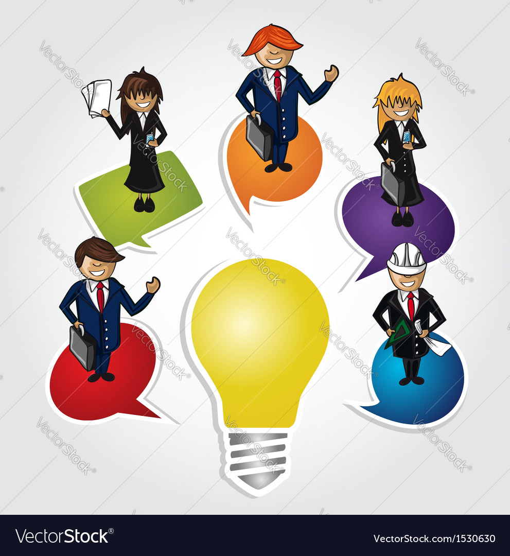 Business teamwork social idea people vector