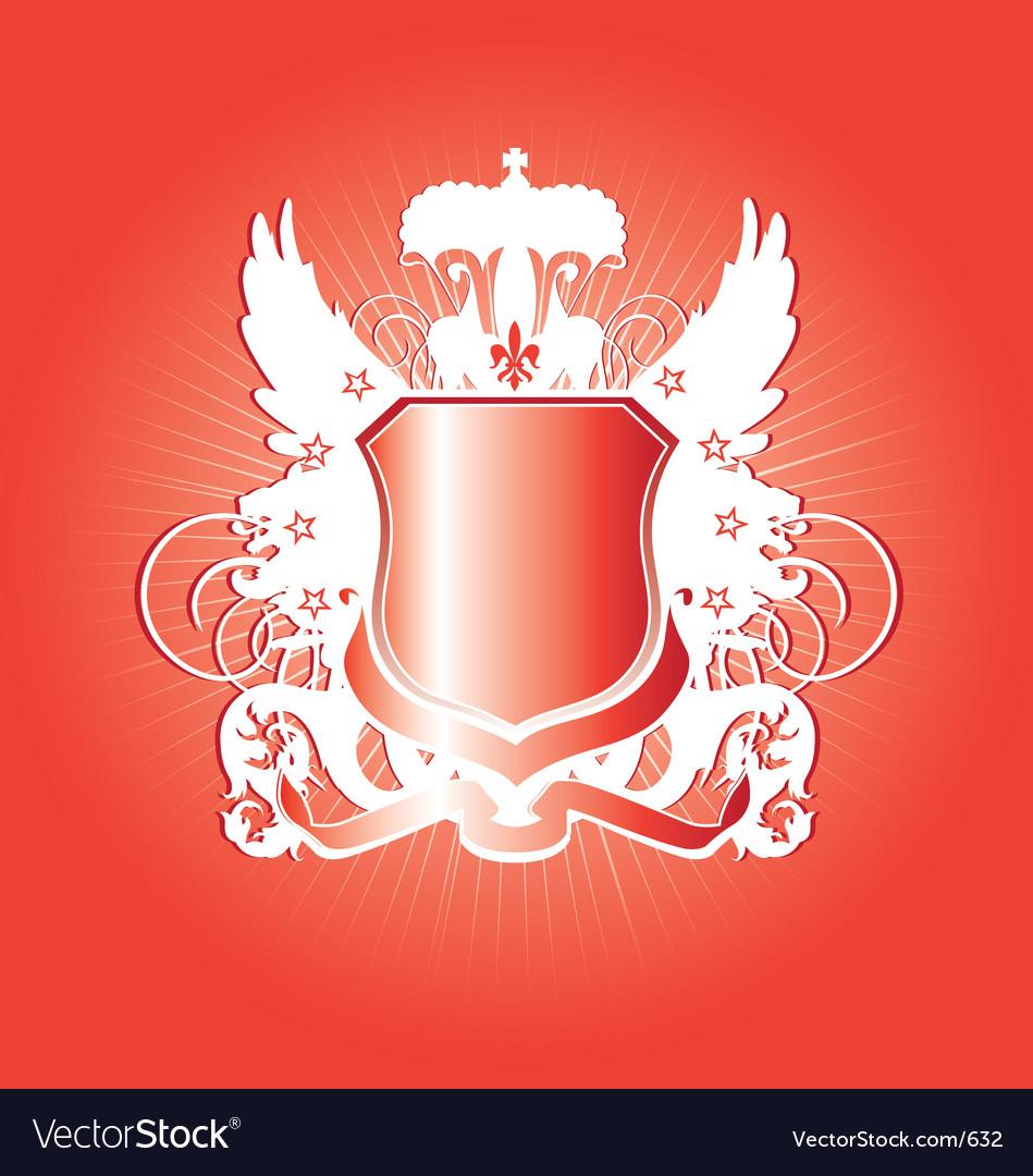 Free heraldry shield  vector