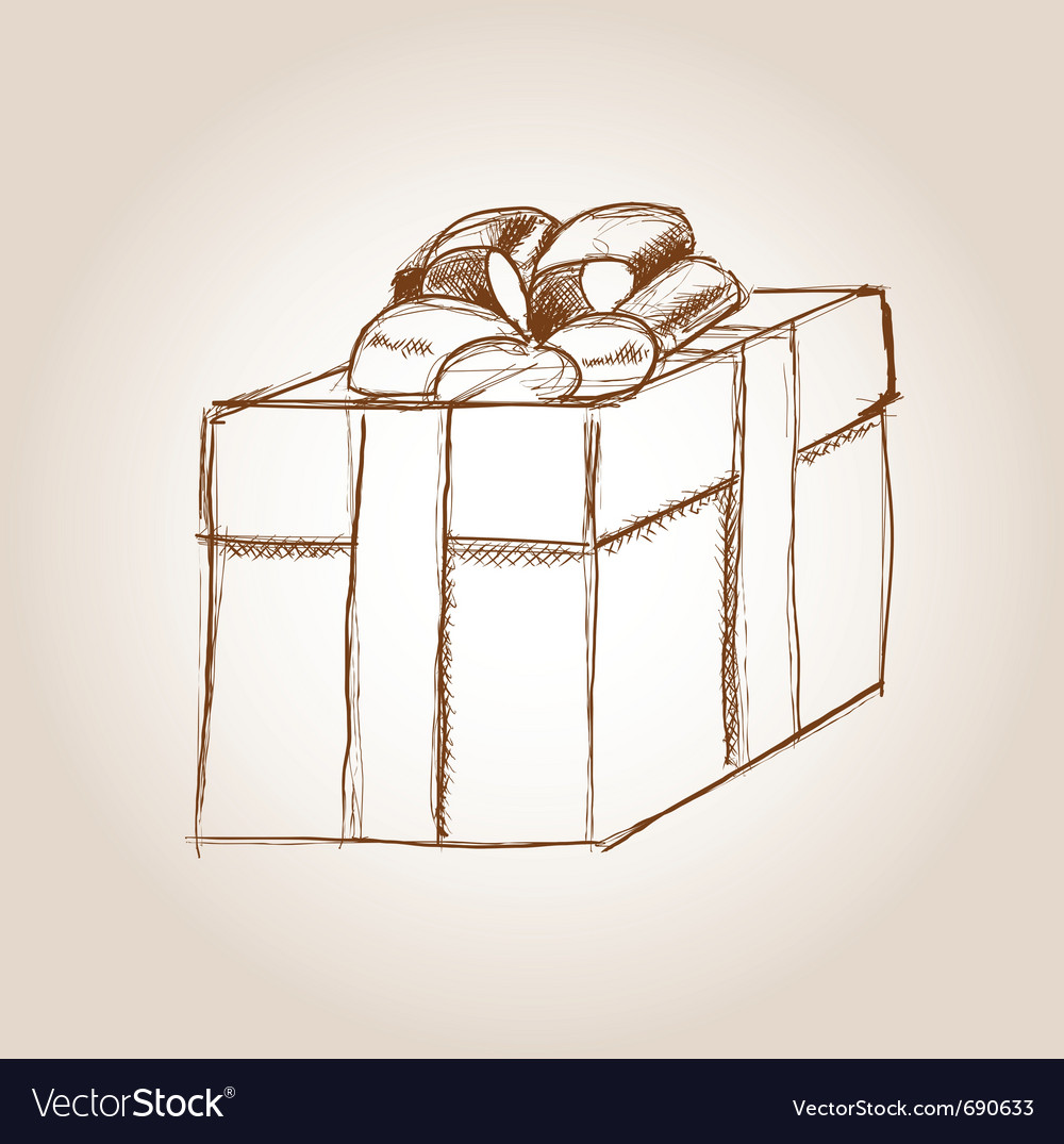 Gift drawing vector