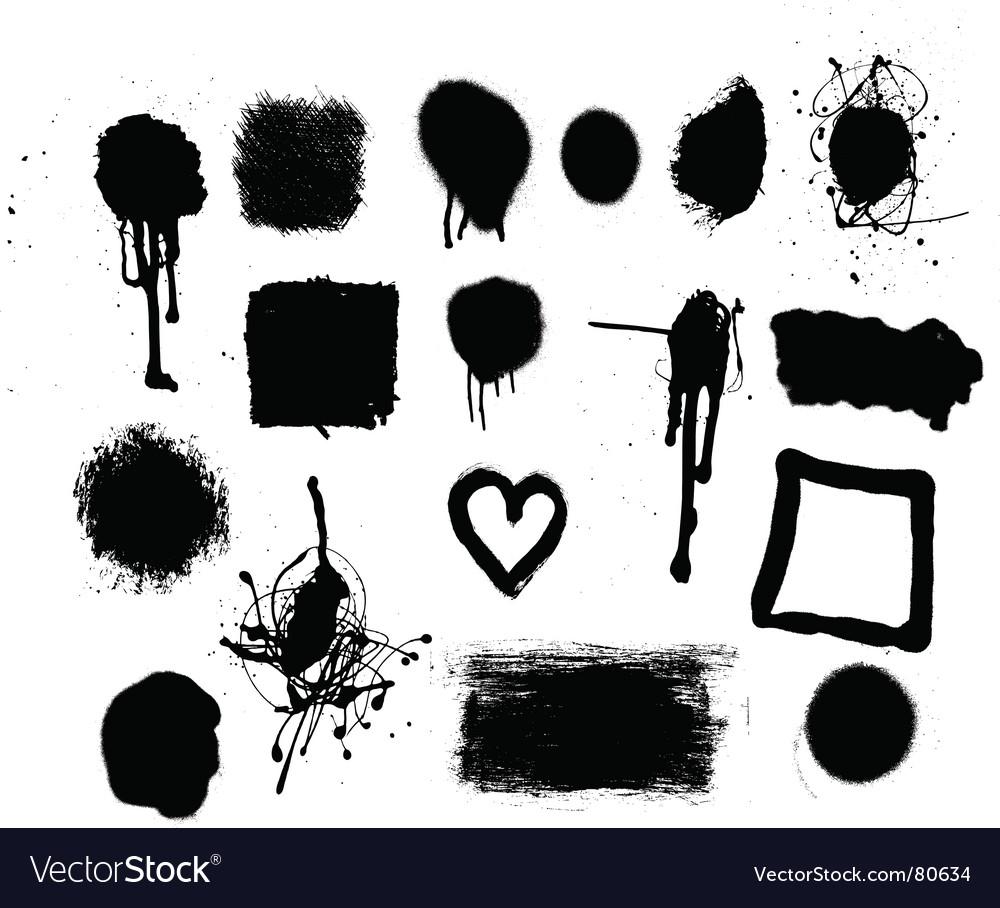Grunge mark set vector