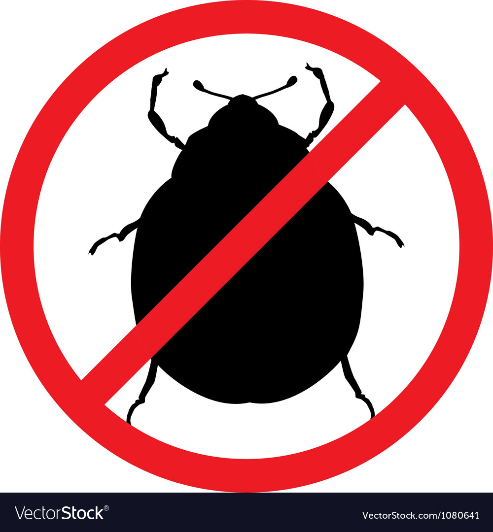 Free stop pests vector