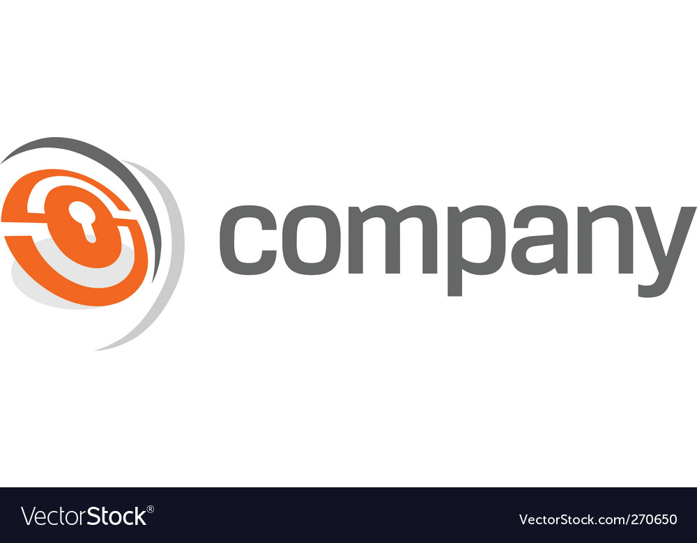 Security lock logo vector