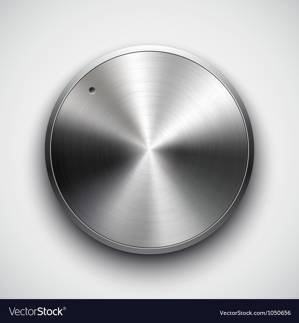 Metal volume button vector