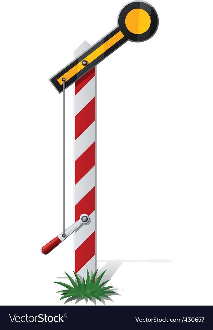 Railroad semaphore vector